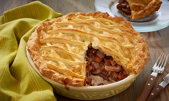 This Chicken and Mushroom Puff Pastry Pie is comfort food at its finest! An elegant entrée perfect for your next dinner party.
