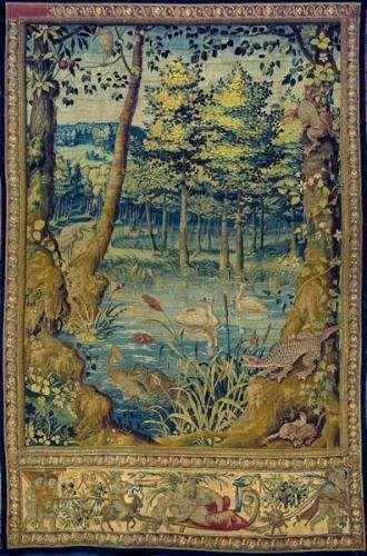 Arras-werdiura  Wydra z rybą w pysku , Bruksela. ok.1555 (330x500, 42Kb)