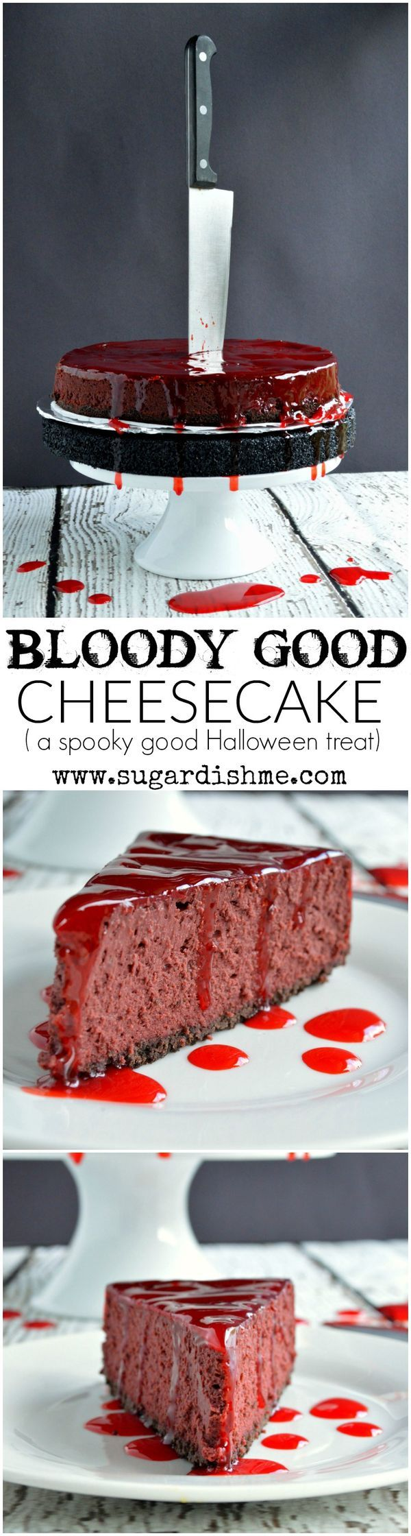 This Bloody Good Cheesecake Recipe is the spookiest Halloween treat that is sure to be the scary centerpiece of your party!