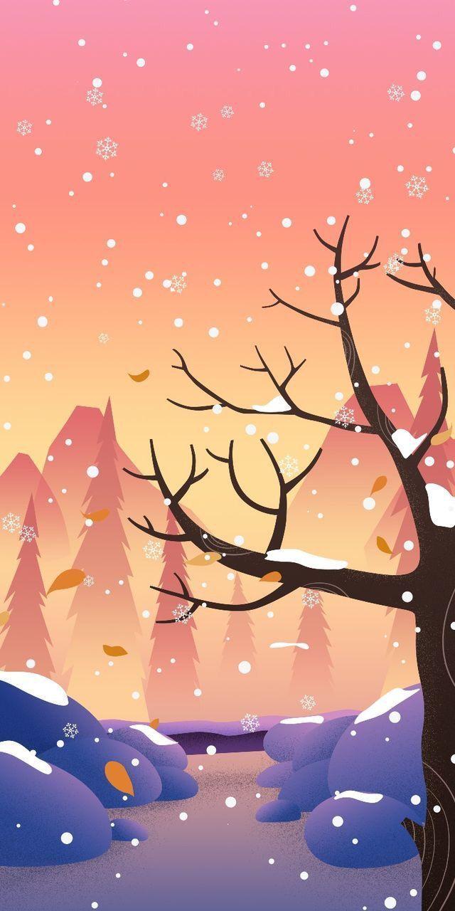 50 Best Illustration Wallpaper For Phone Wallpaper Cute Wallpaper Backgrounds Wallpaper Iphone Christmas Scenery Wallpaper