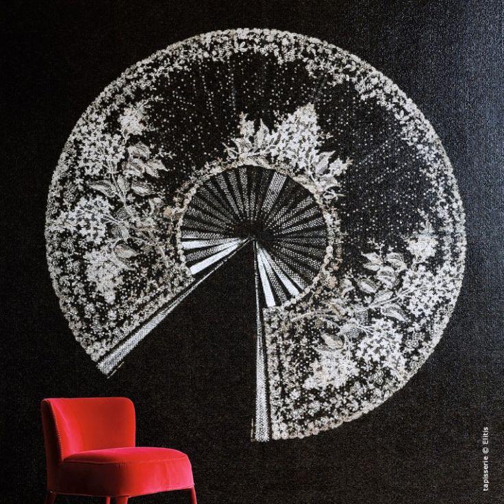 les 25 meilleures id es de la cat gorie papier peint elitis sur pinterest papier peint relief. Black Bedroom Furniture Sets. Home Design Ideas