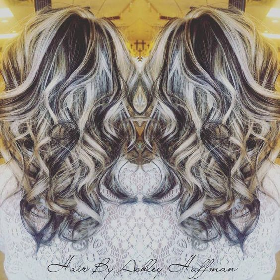 Image Result For Dark Chocolate Brown Curly Hair With Platinum Highlights Platinum Blonde Highlights Platinum Hair Platinum Blonde Hair