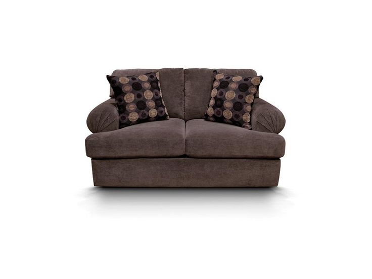 The Abbie loveseat from England Furniture is every bit as comfortable as it is stylish. Its large pleated roll arm, deep seat, and plush back make this just about the perfect sofa. Check out the matching sofa, chair, ottoman, and sectional. You will never sacrifice comfort for style with this collection!