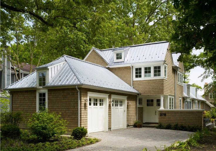 Silver standing seam metal roof with snowguards curb for Garage appeal coupon code