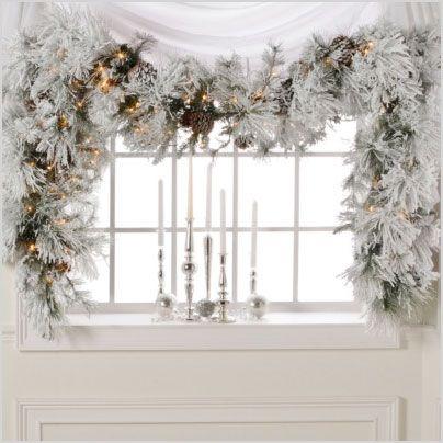 Best 25+ White christmas garland ideas on Pinterest