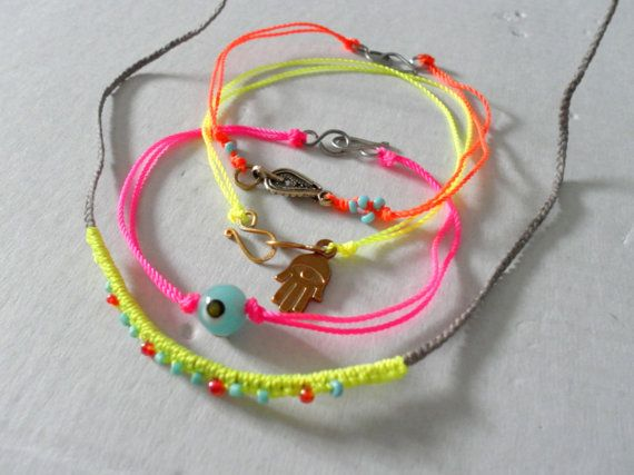 Neon friendship bracelets | crafts/ friendship bracelets business ...