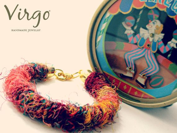 Handmade Fabric Ethnic Bracelet With by VirgoHandmadeJewelry