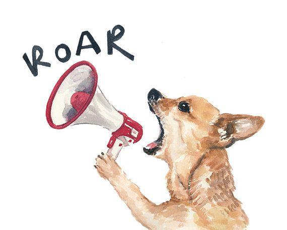 Chihuahua Watercolor PRINT - 11x14 watercolour, Dog Art, Chihuahua Dog, Animal Painting