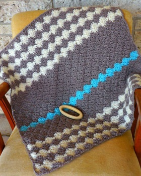 Free Crochet Harlequin Blanket Pattern : Little ones keep cozy in this ultra-soft blanket featuring ...