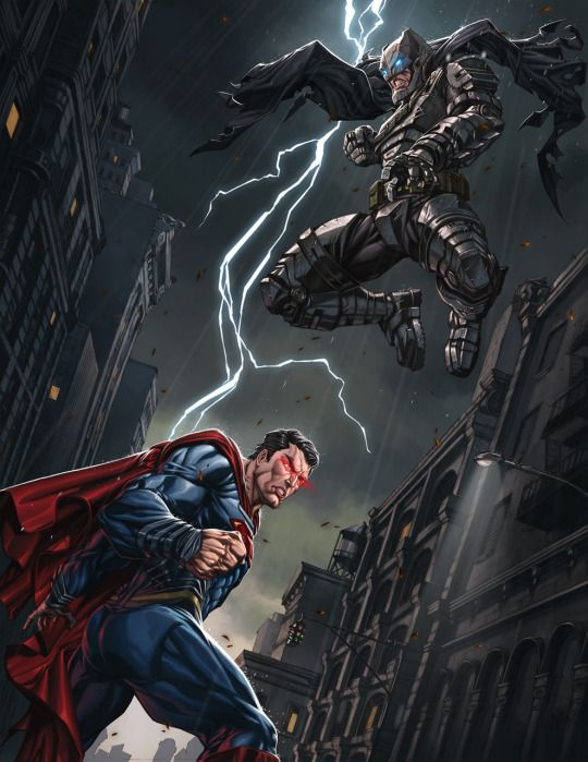 Batman vs Superman by Alesky Aguilar