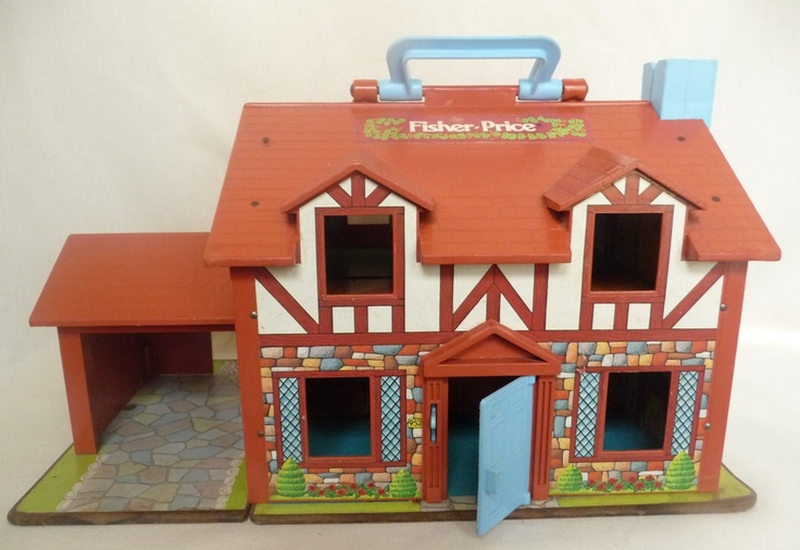 Vintage Fisher Price Tudor Dollhouse. I still have this from when I was a kid. Love it!