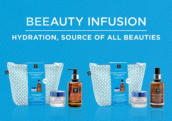 Discover our Beeauty Infusion hydration pouches! #apivita #hydration #face #giftset #gift