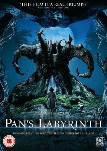 """Pan's Labyrinth (2006) directed by Guillermo del Toro, starring Ivana Baquero, Ariadna Gil, Sergi Lopez, Maribel Verdu and Doug Jones. """"In the fascist Spain of 1944, the bookish young stepdaughter of a sadistic army officer escapes into an eerie but captivating fantasy world."""""""