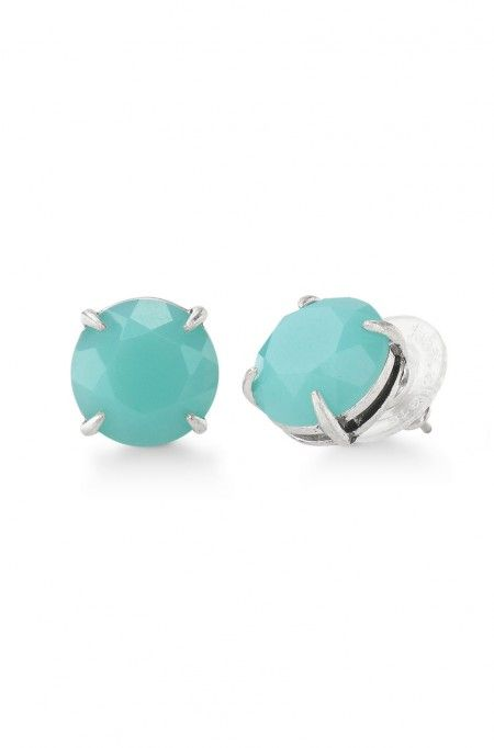 Beautiful aqua stones to add a touch of color to any outfit! Just $24 too!!  Janice Studs by Stella & Dot www.stelladot.com/laurarailing