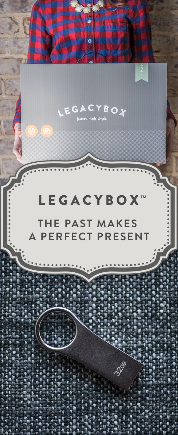 Preserve your recorded memories digitally! Fill Legacybox with your home movies, photos, film and audio, and we'll send it back with all of your precious moments digitally preserved on DVDs and thumb drives. Great for you or as a gift to someone else.