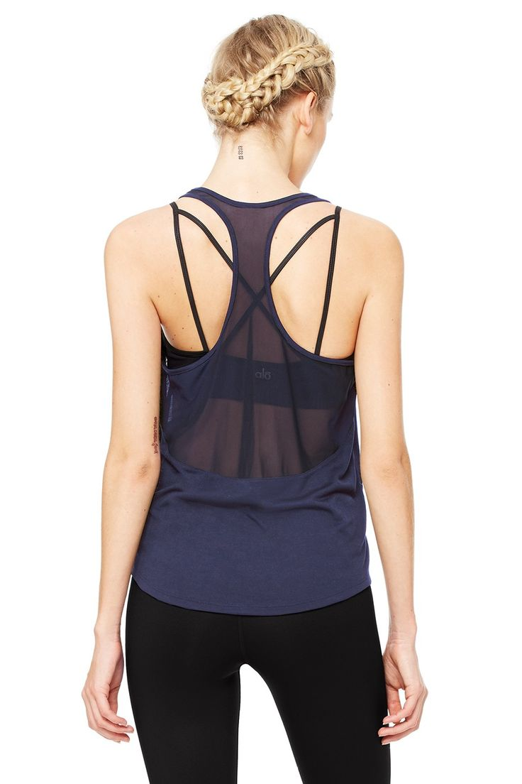 Extreme Racer Tank - Rich Navy | Women's Tops at ALO Yoga