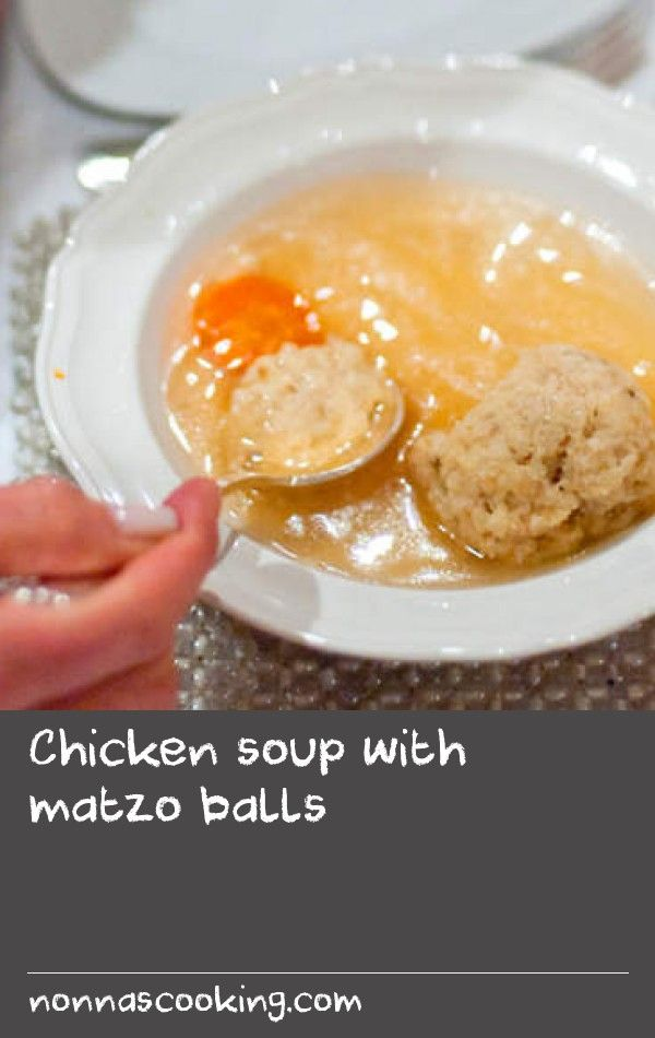 Chicken soup with matzo balls | This soup is traditionally eaten at Passover, a Jewish holiday commemorating the story of the Exodus, in which the ancient Israelites were freed from slavery in Egypt. As this recipe is quite involved, a double quantity is usually made so that an extra portion can be frozen for another meal. As not everyone has a 20 litre stockpot, you can simply halve stock ingredients (except carrots) and it will still serve 8. Start this recipe a day ahead.
