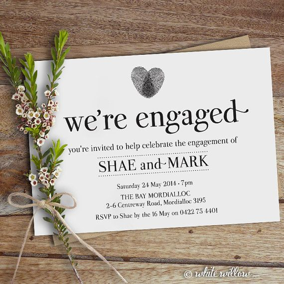 best 25+ engagement announcement cards ideas on pinterest, Birthday invitations