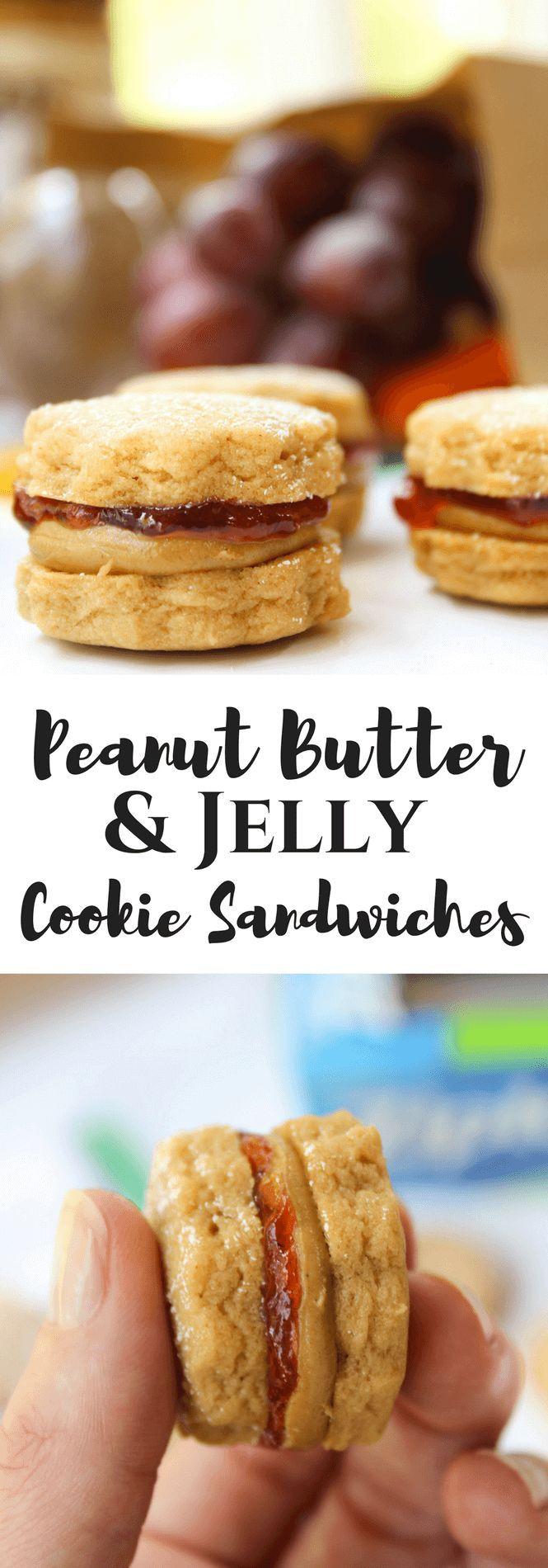 Peanut Butter & Jelly Mini Cookie Sandwiches | #ad #ShopRitePBJLove  #cbias #peanutbuttercookies | @smucker's @jifpeanutbutter