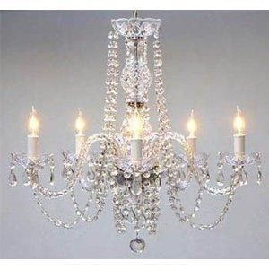 This beautiful Chandelier is trimmed with Empress Crystal(TM) <br>A Great European Tradition. Nothing is quite as elegant as the fine crystal chandeliers that gave sparkle to brilliant evenings at pal...