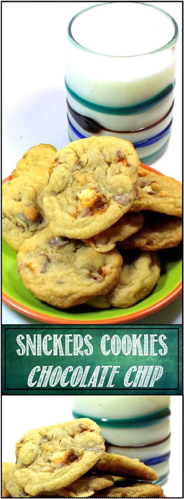 nickers Cookies (BEST Chocolate Chip Cookie EVER That Doesn't have Chocolate Chips) A Standard Chocolate Chip Cookie Recipe with a couple of SECRETS but also instead of Chocolate chips I dice up some Halloween Candy... Snickers Bars have Nugget, Nuts, Caramel and Chocolate... Makes these cookies BETTER than just chips... THE BEST EVER!!!