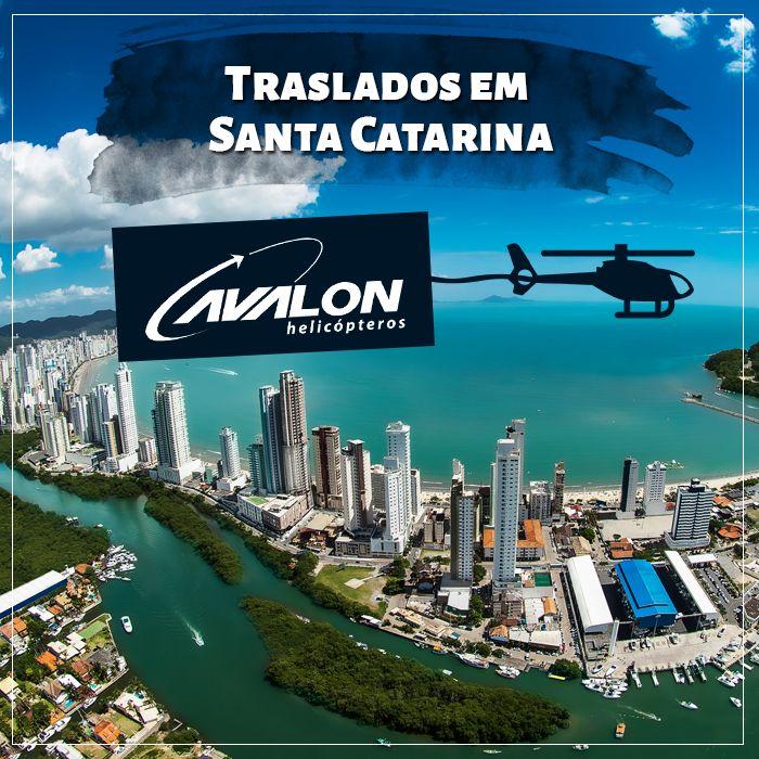 Voos de Helicóptero no litoral catarinense é na Avalon - Taxi Aéreo.👍    Fazemos traslados pelas principais cidades, balneários e aeroportos de Santa Catarina.🚁