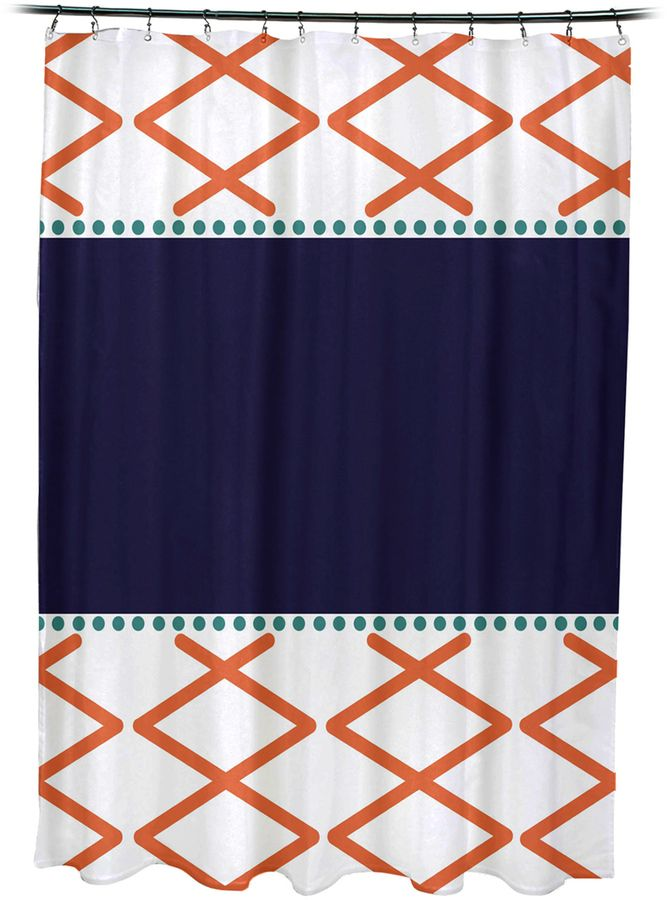 e by design Knot Fancy Shower Curtain