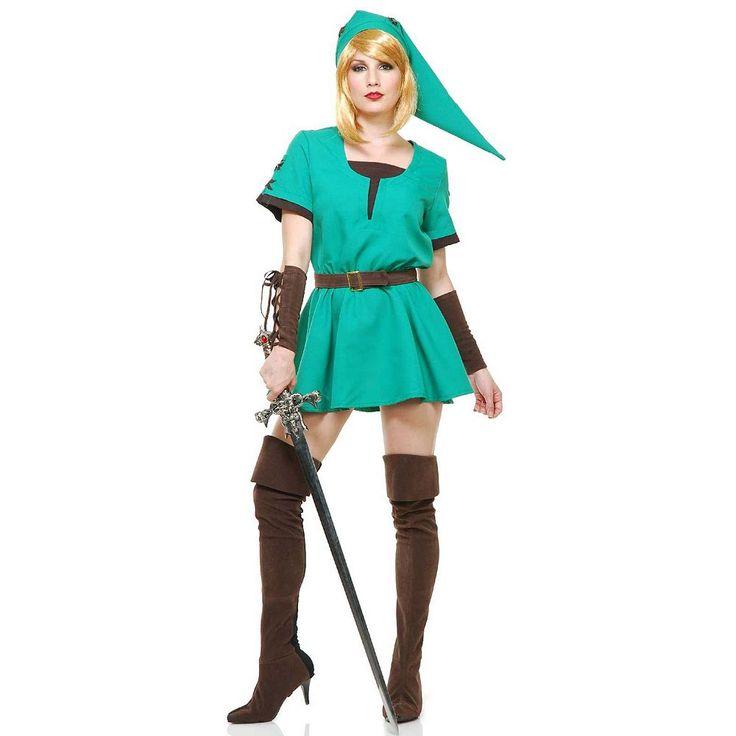 Elf Warrior Princess Costume - Adult, Women's, Size: XL, Green