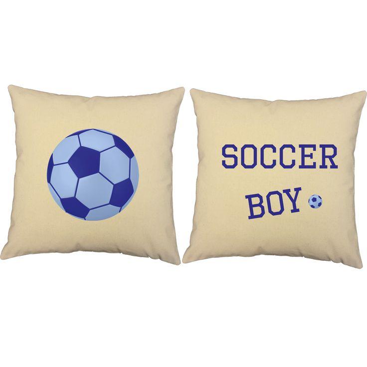 Soccer Boy Throw Pillows - Set of 2