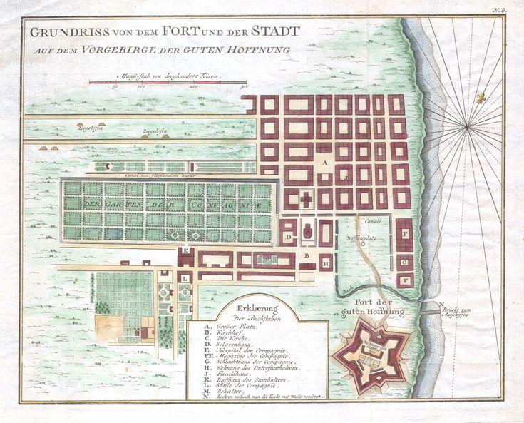 1750 Bellin Plan of Cape Town ...