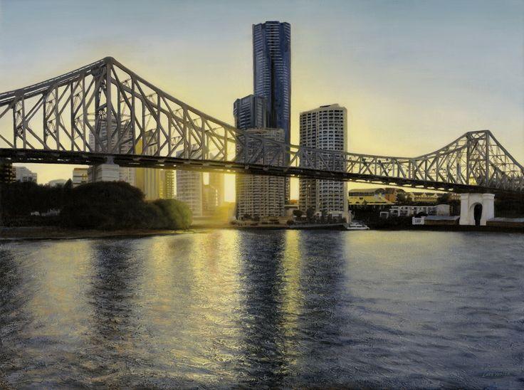 'River City' (Brisbane) Oil on linen, 122x91cm