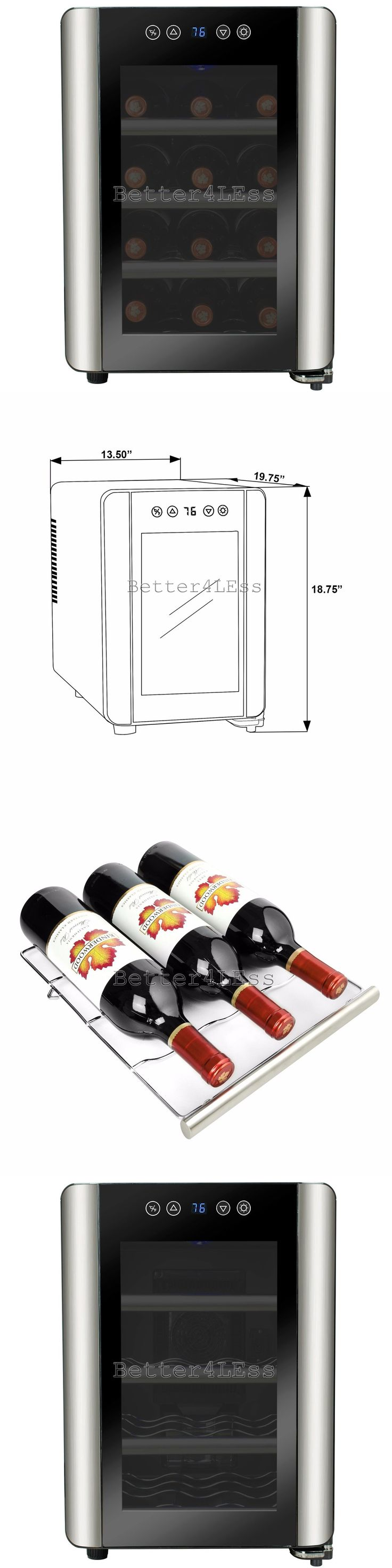 Wine Fridges and Cellars 177750: 12 Bottle Freestanding Stainless Steel With Touch Controls Chiller Wine Cooler -> BUY IT NOW ONLY: $99.99 on eBay!