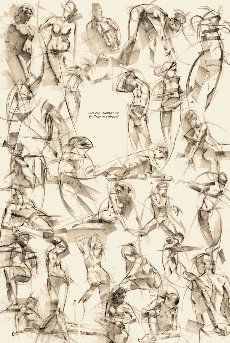 Gesture drawing by Ryan Woodward