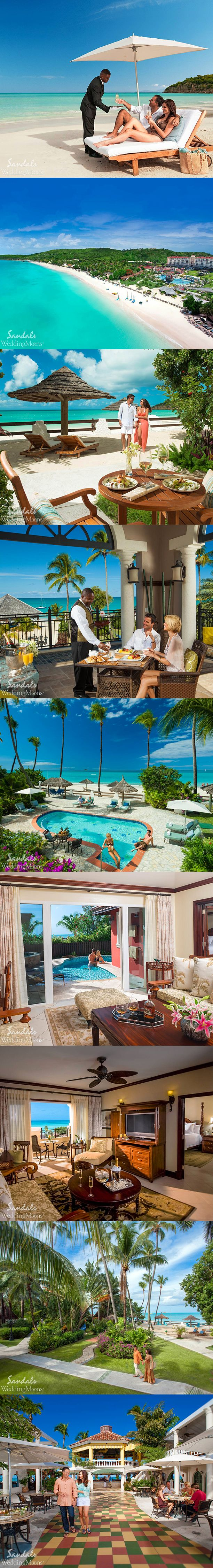 SANDALS WEDDING INSIDERS: HONEYMOON IN ANTIGUA For a secluded yet sophisticated experience, honeymoon in Antigua!