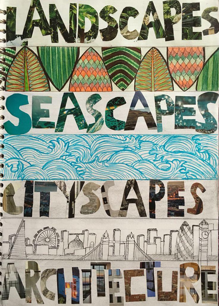 Title page- Landscapes, seascapes, cityscapes, architecture