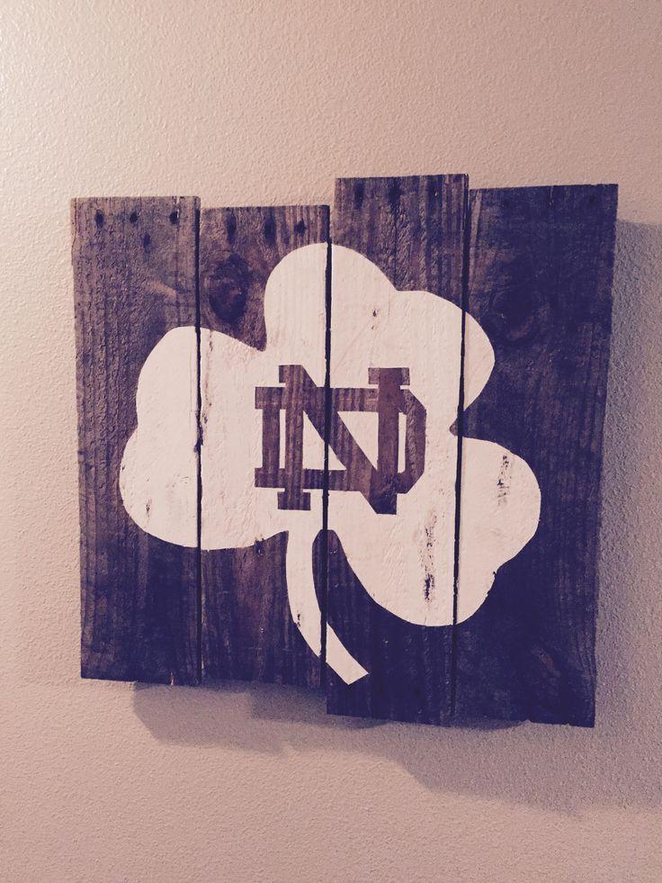 Notre Dame Sign - old pallet
