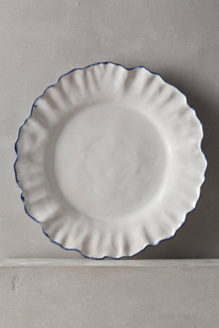 Ruffled Rim Dinner Plate