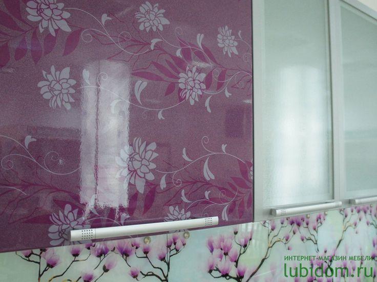 Кухни «Анастасия» тип 3 в цвете «Фиолетовый #металлик» и «Фиолетовая #Флора» | Серии модульной мебели для кухни по #лучшим #ценам | Купить #кухню и комплектующие | Каталог мебели от производителя «Любимый Дом» #lubidom