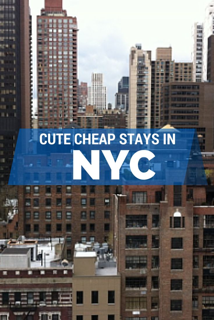 Adorably affordable places to stay in NYC.  http://thetravelbite.com/travel-tips/cheap-chic-stays-in-nyc/