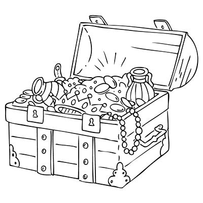 open treasure chest coloring page - marabu window color malvorlage schatztruhe http marabu