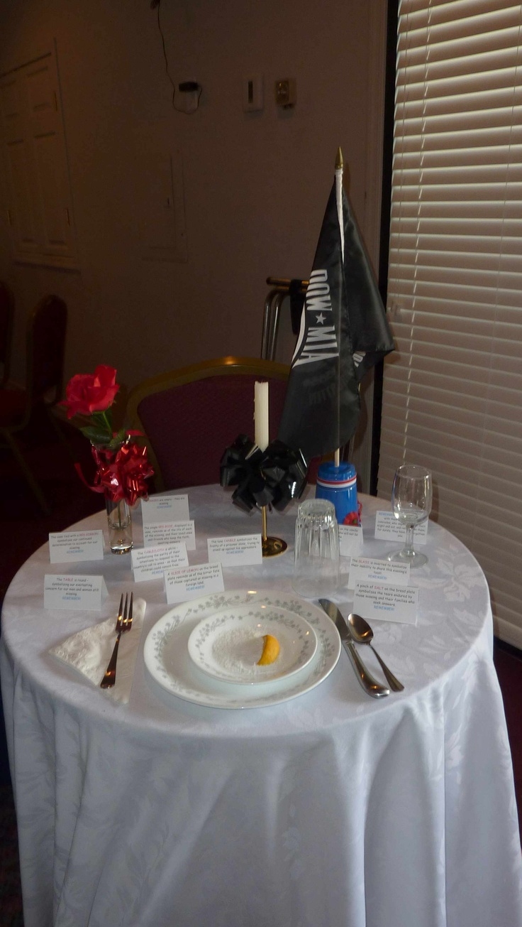 Pow Mia Table Setting In 2020 Table Settings Table