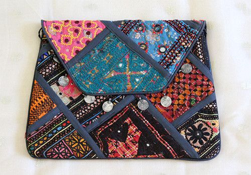 Vintage Kutch Embroidery Multipurpose Bag – Desically Ethnic