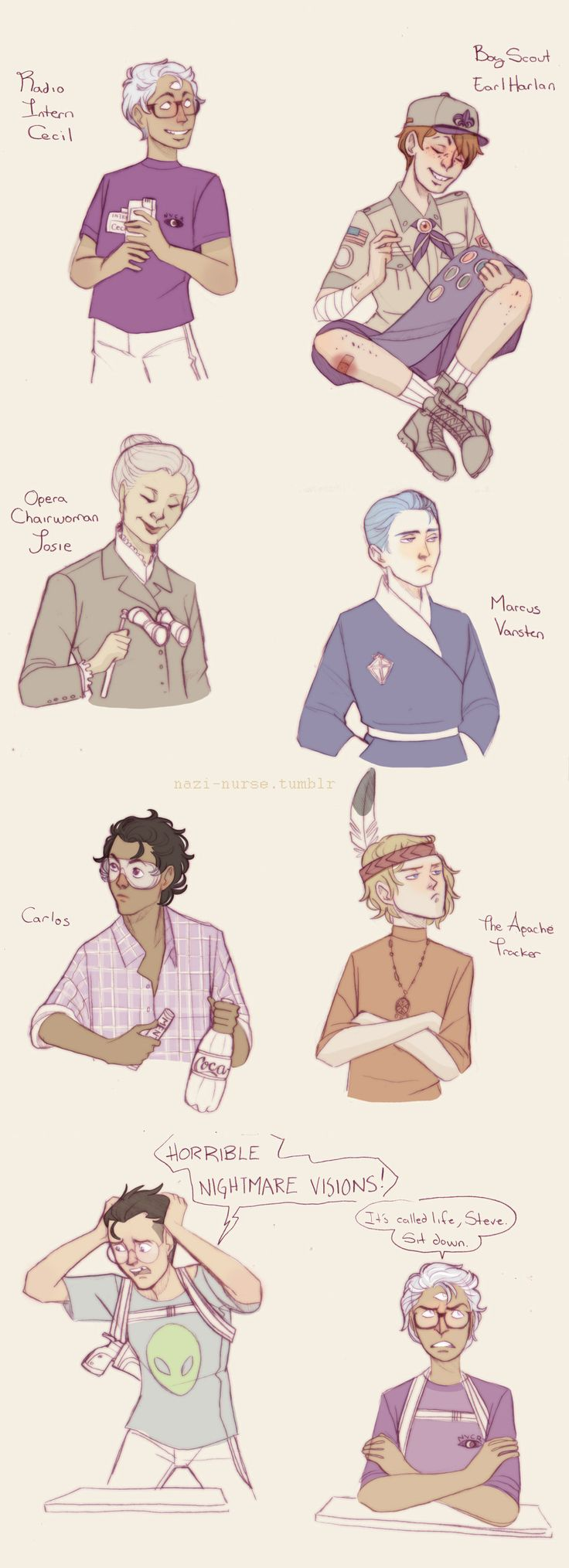 Night Vale Babies by Sour-Purple.deviantart.com on @deviantART<- the fact that Steve is Dib from Invader Zim pleases me.