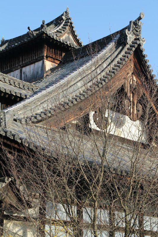 temple au Sanjusangen-do  #Japan #kyoto #japanese #temple #roof #tradition