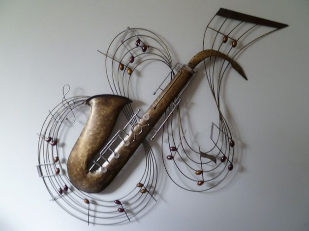 Wanddeko - Wanddekoration Metall Saxophon - ein Designerstück von ...