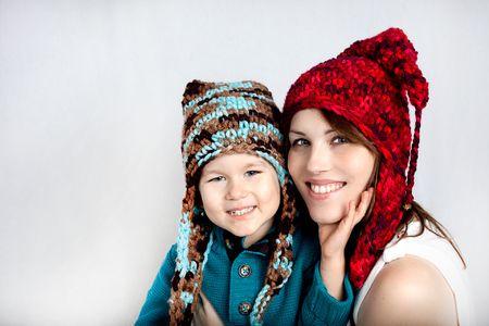 Crochet colorfull hats