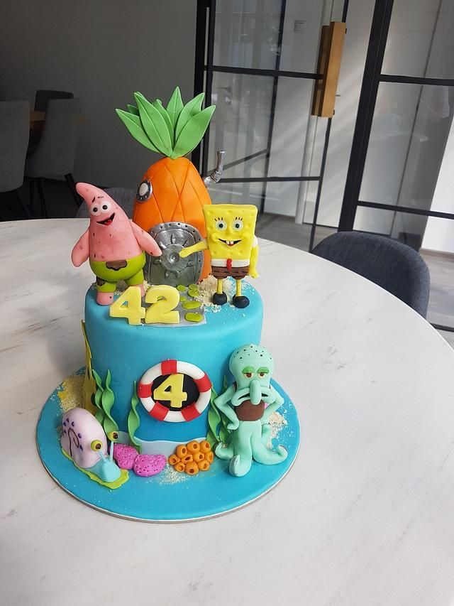 Spongebooob By Malic Alice Alice In Wonderland Cakes Spongebob Squarepants Cake Novelty Cakes