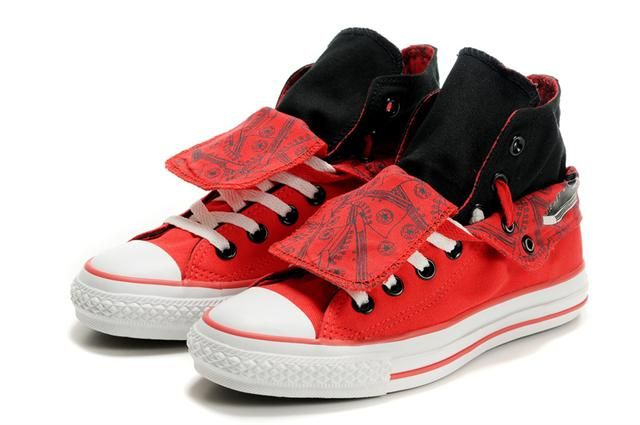 Red Converse Shoes for Girls | Converse Shoes Home :: Girls Converse Double Tongue :: Girls Converse ...