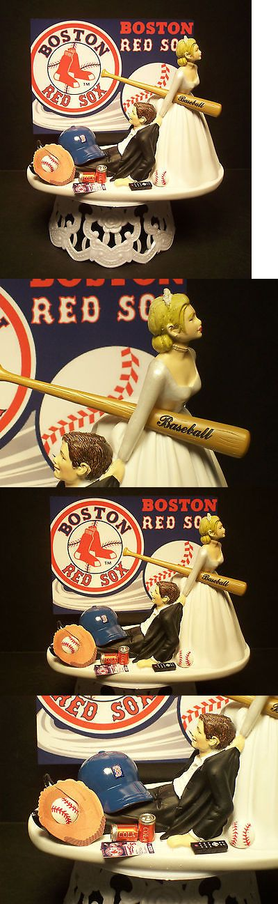 Wedding Cakes Toppers: Boston Red Sox Baseball Bride And Groom Wedding Cake Topper Sports Funny -> BUY IT NOW ONLY: $77.99 on eBay!