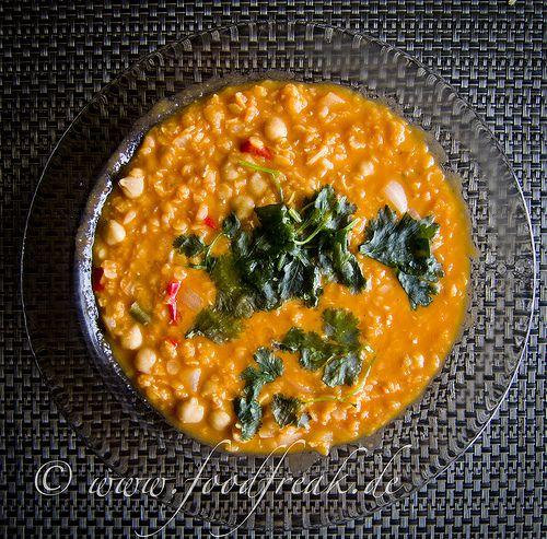 Rote-Linsen-Suppe mit Kichererbsen
